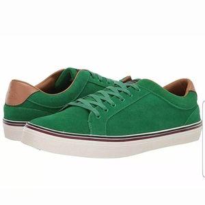 Original Penguin GREEN CHAD Low-Top Suede Sneakers
